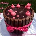 Birthday Pink Pig Cake/Hot Tub Pig Cake
