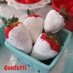 Confetti Dipped Strawberries