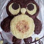 Owl Cake, Cupcakes and Cookie Monster Ice Cream