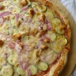 Thai Zucchini Chicken Pizza