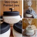 Mini Chalk Painted Jars