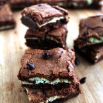 Shamrock Mint Cheesecake Brownies