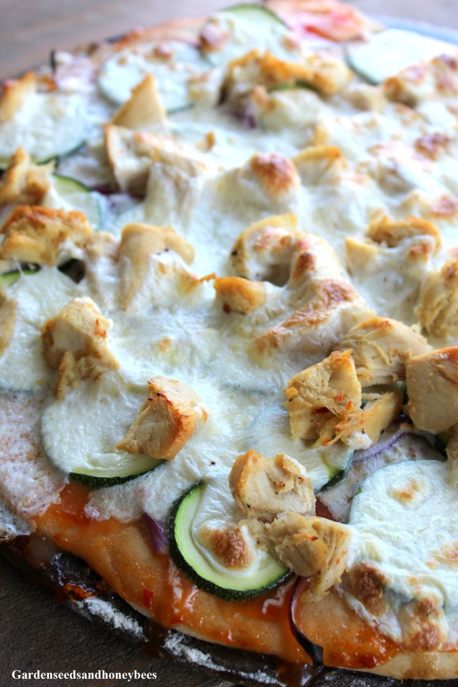 Thai Chicken Zucchini Pizza