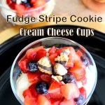 Fudge Stripe Cookie Cream Cheese Cups