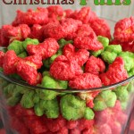 Candy Coated Christmas Corn Puffs