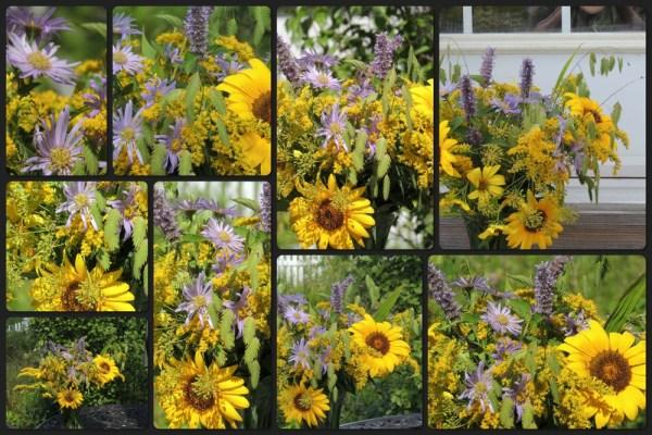 yellow purple vase