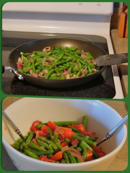 warm bean-tom salad