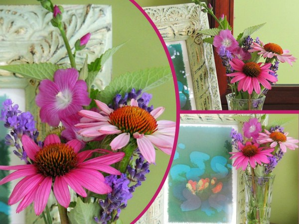 sm coneflower vase