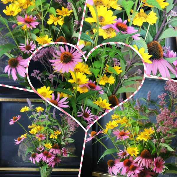 sidewalk vase collage