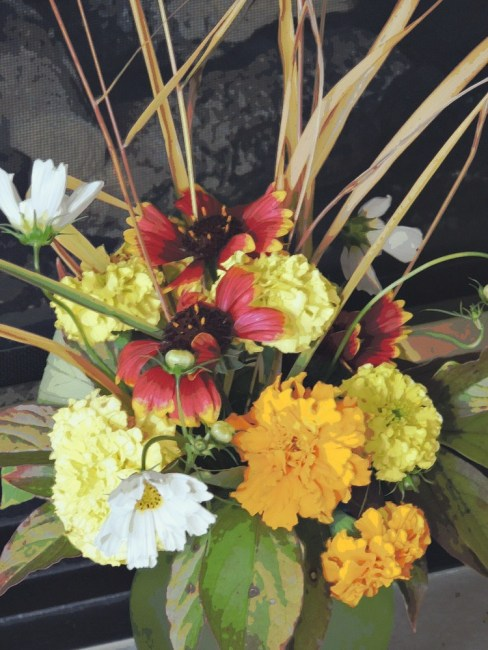 marigold vase