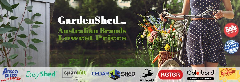 GardenShed.com Banner - Shed Brands