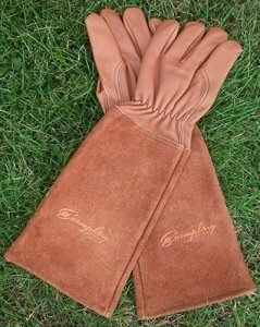 Rose Pruning Gloves for Men and Women. Thorn Proof Goatskin Leather Gardening Gloves