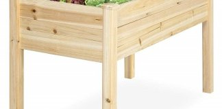 Raised Wood Planter Garden Bed Box Stand for Backyard