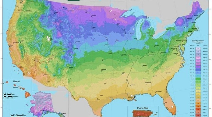 USDA Plant Hardiness Zone Map (USA)