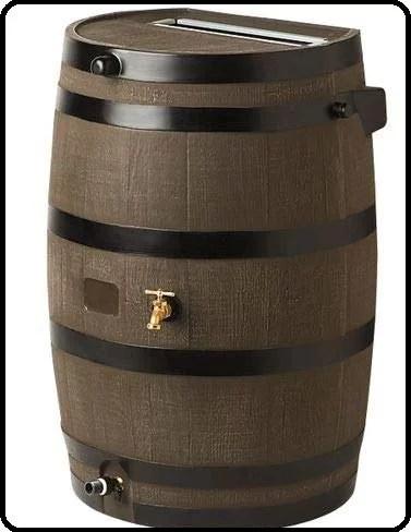 Flat-Back Rain Barrel Woodgrain Review