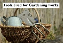 Tools Used for Gardening works