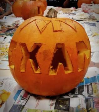 Ally's very scary pumpkin