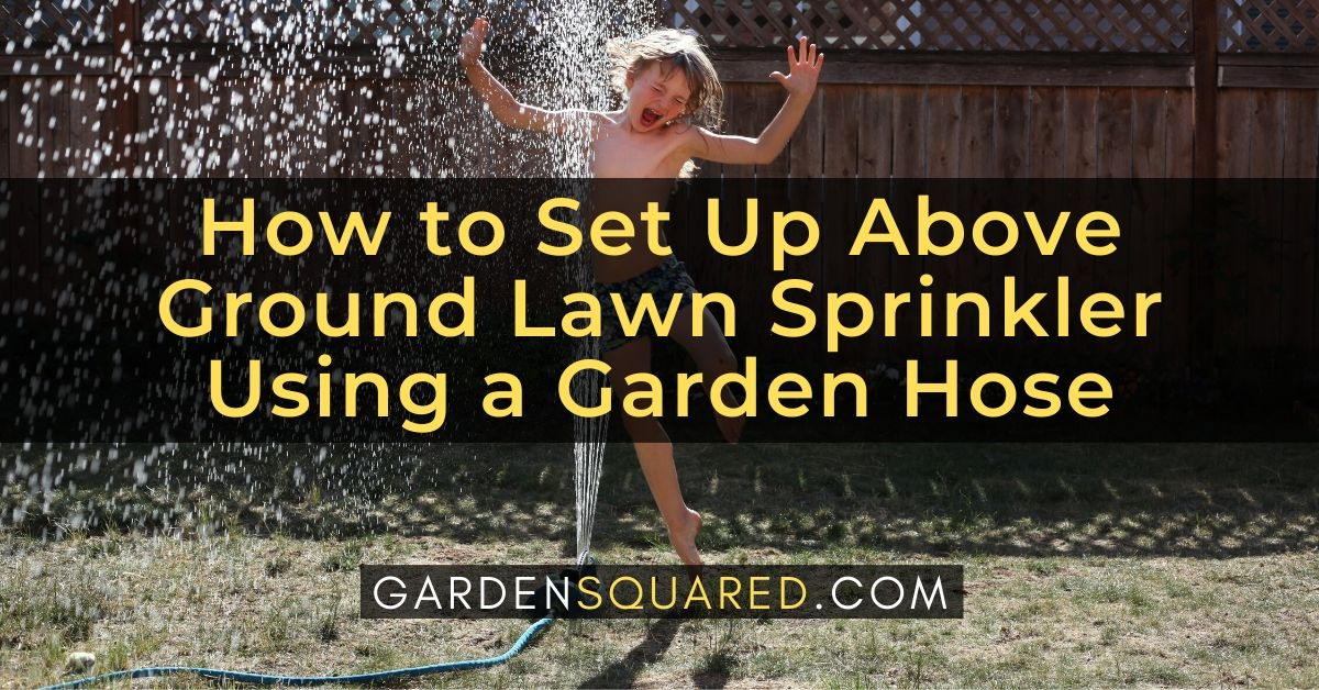 How To Set Up Above Ground Lawn Sprinkler Using A Garden Hose