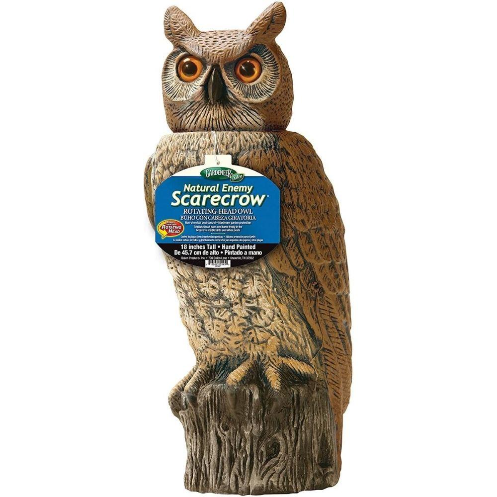 Gardeneer 784672887786 Dalen RHO4 Natural Enemy Scarecrow Rotating Head Owl