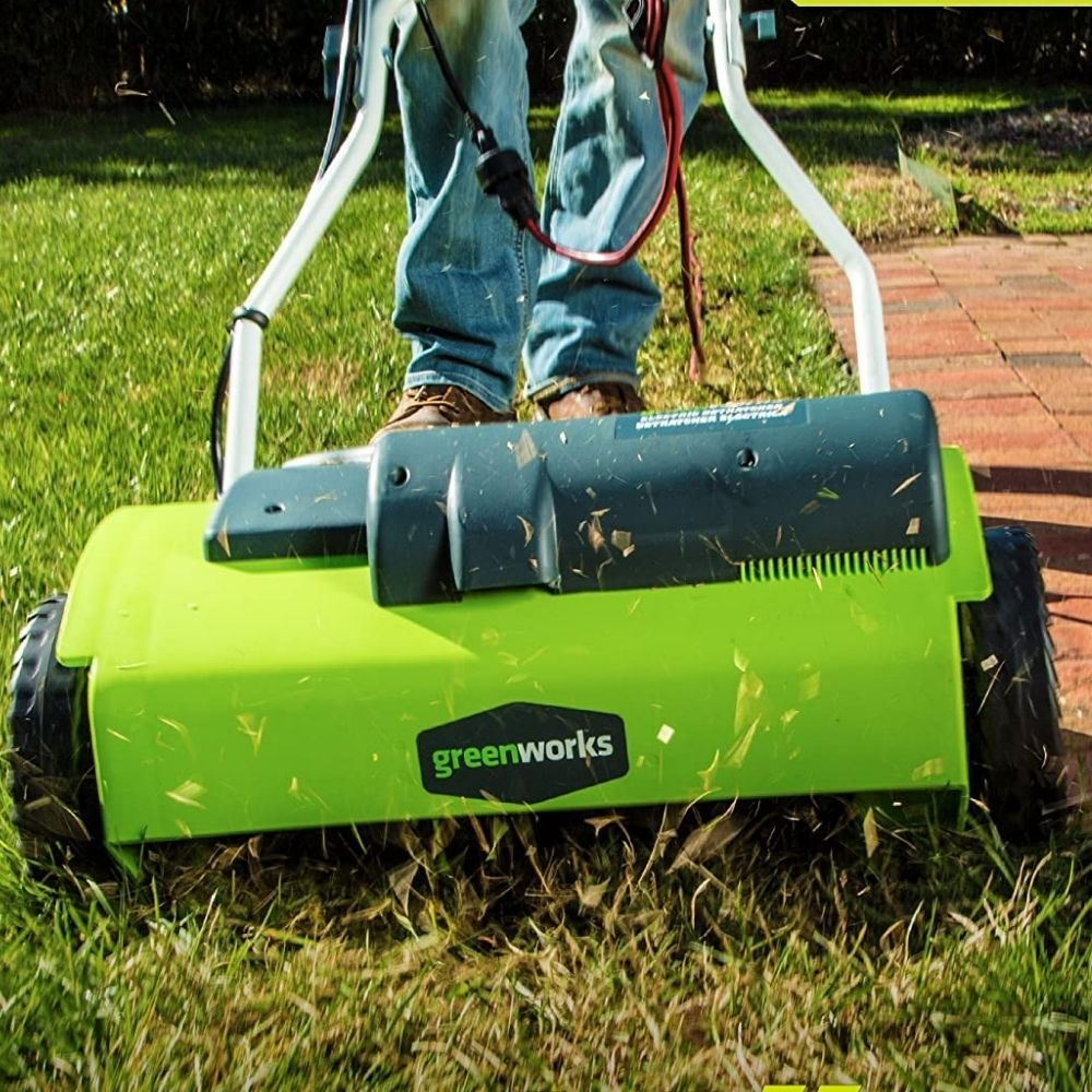 Scarifying Lawn Grass