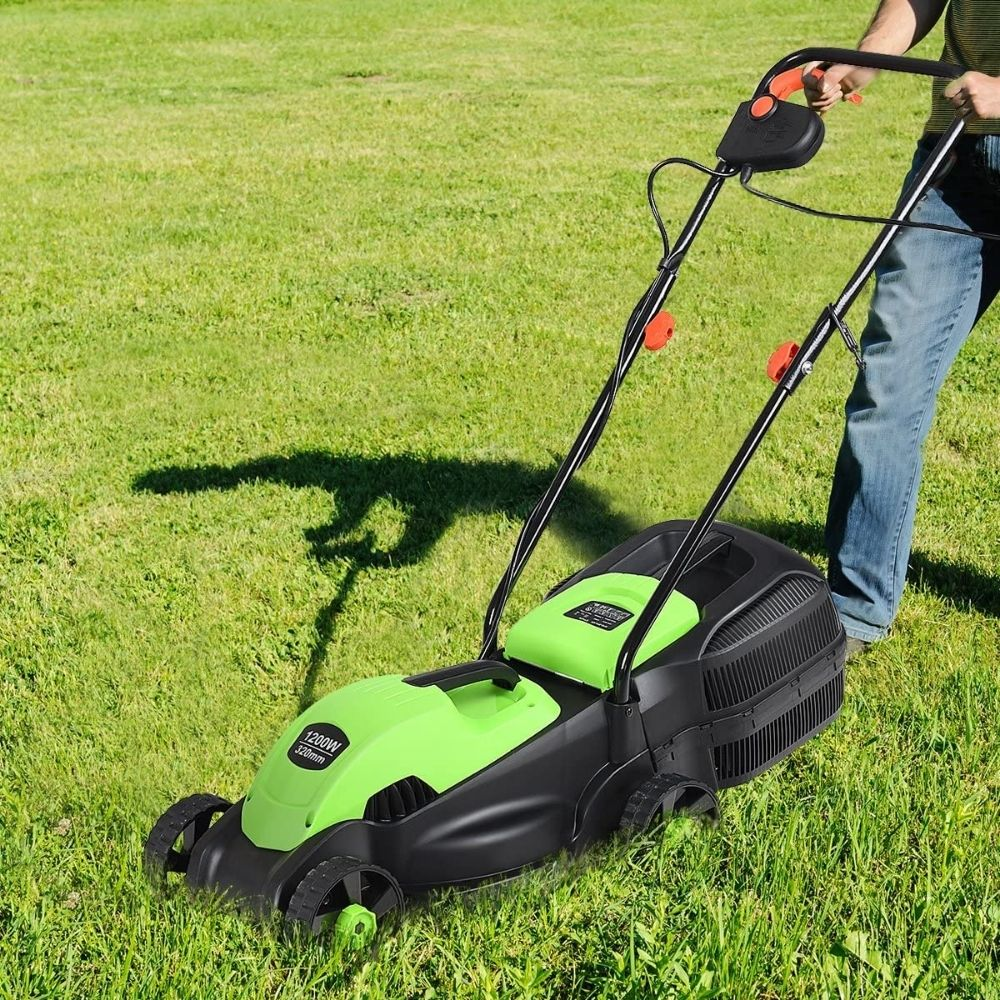 HAPPYGRILL 14-Inch 12 Amp Electric Lawn Mower