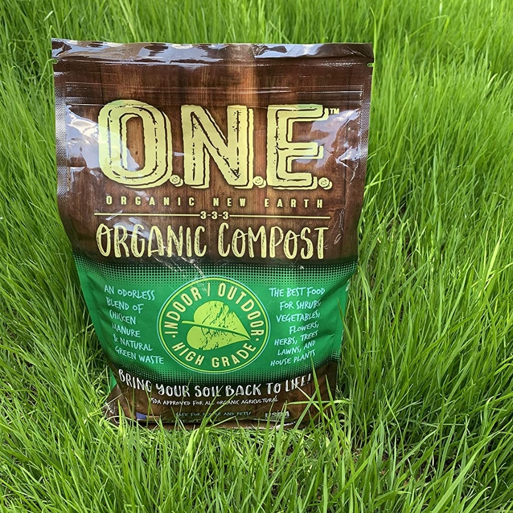 Organic New Earth-ODORLESS Organic Soil Additive made from steroid-free chicken manure and all-natural green waste-All Natural Compost-Organic...