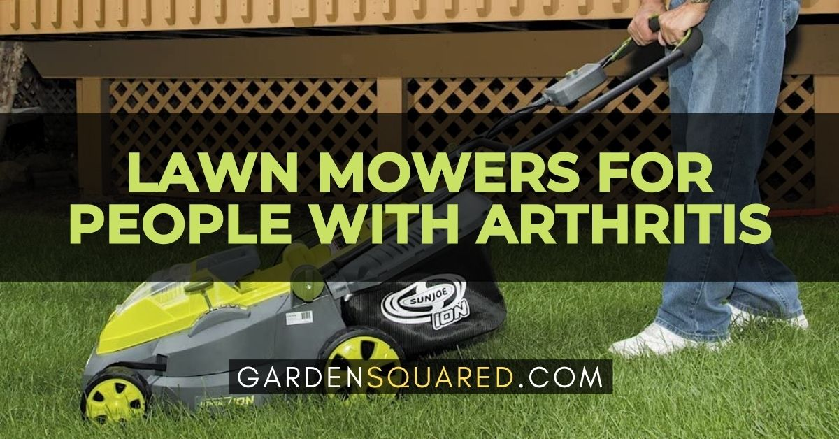 Best Lawn Mowers For People With Arthritis