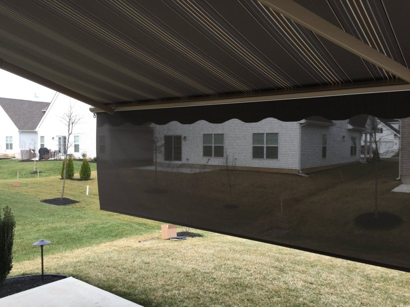 Premier Awning with Drop Screen