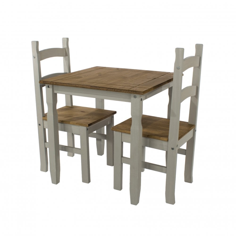 Table With 2 Chairs Core Corona Grey Square Dining Table 2 Chairs