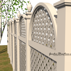 Arched Fence Design