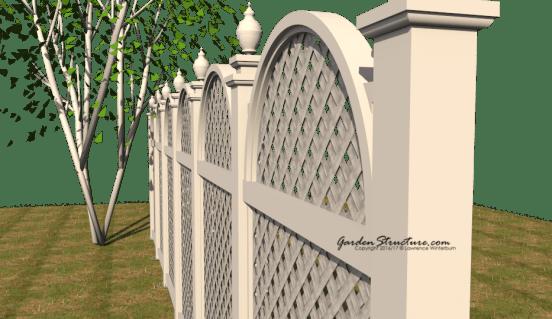 Arched Fence Design