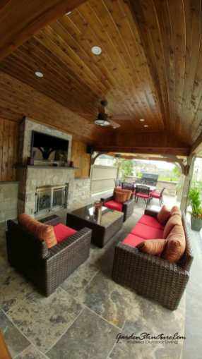Cabana Design - The den with fireplace