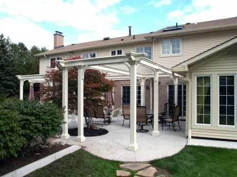 architectural patio pergola laminated braces