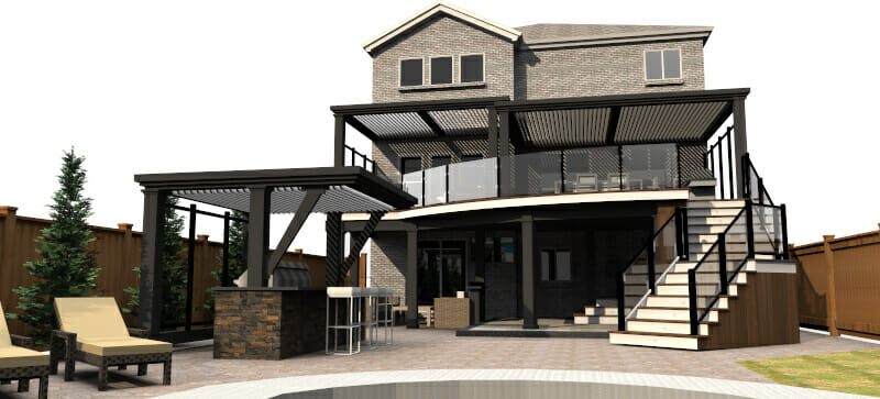 Modern Deck Design -Deck Builders Hamilton Burlington