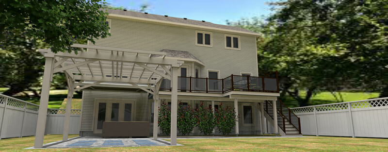 Sample 3D Rendering of a deck design