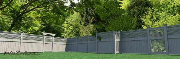 How to design fences and trelliswork