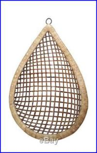 Eye Drop Handmade Hanging Cane Wicker Swing Chair