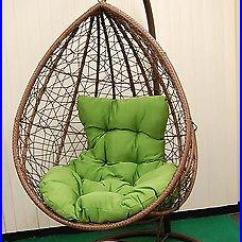Egg Chair Swing With Stand Rattan Chairs Living Room Outdoor Hanging Cushion Resin Wicker Comfy Durable