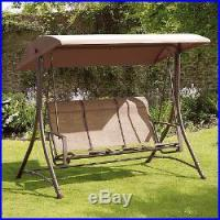 Patio Swing With Canopy 3-Seat Glider Porch Backyard Home ...