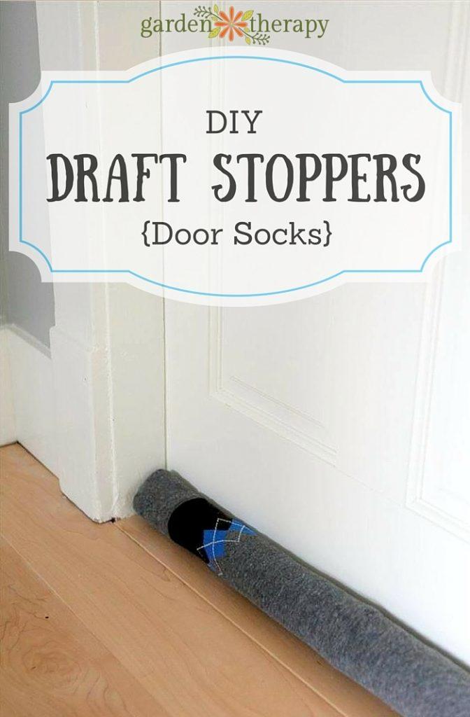 Draft Stoppers How to Make DIY Door Socks