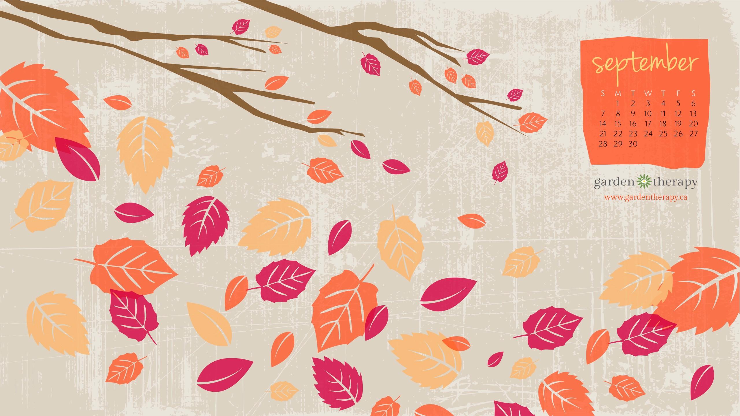 Fall Pumpkins Desktop Wallpaper Falling For The September Desktop Calendar Garden Therapy 174