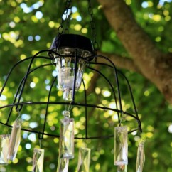 Metal Frame Outdoor Kitchen Gifts For Mom Fairy Light Project: Diy Solar Chandelier
