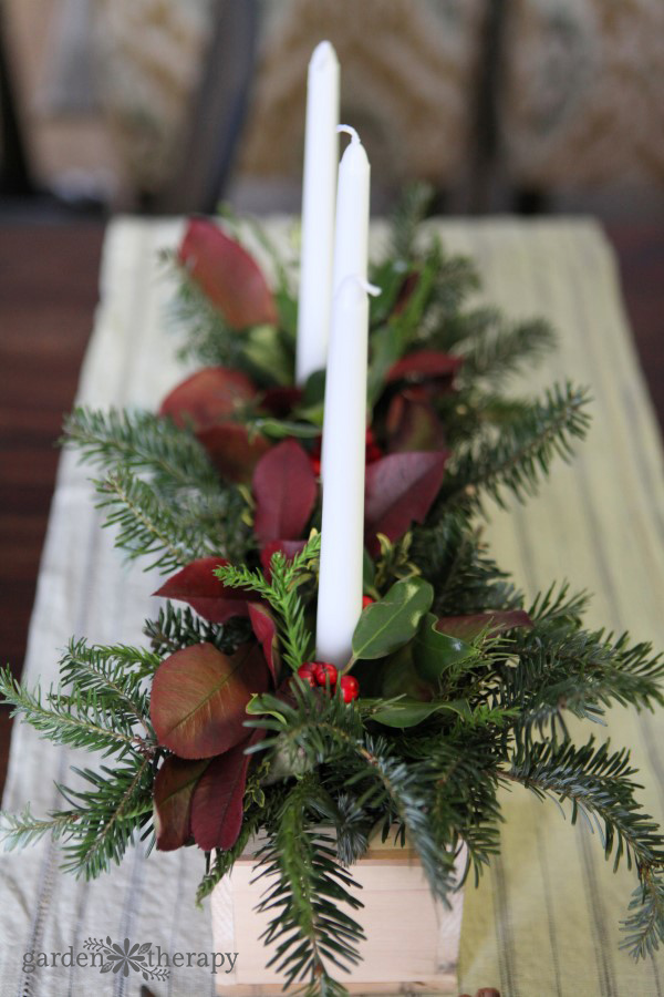Simple Christmas Decorations Using Natural And Rustic Materials Garden Therapy