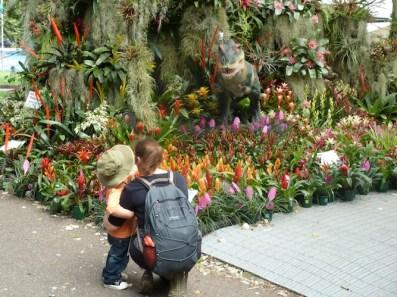 Scary dinosaur at MIFGS 2013