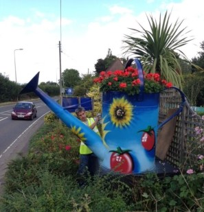 Cleve Nursery's Giant Tropical Watering Can, Bristol Airport