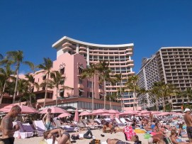Royal Hawaiian Hotel from beach Photo by moore