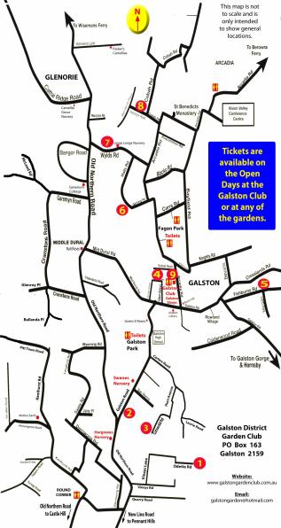 Galston Open Gardens 2015 map
