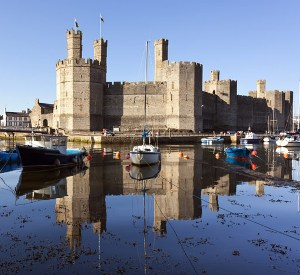 Caernarfon Castle North Wales by Eyewave