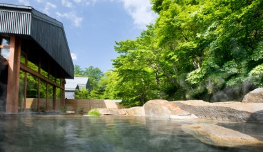 Hoshinoya Karuizawa hot spring bathsjpg