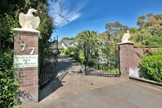 Front gates at Havelock House, Hawke's Bay NZ